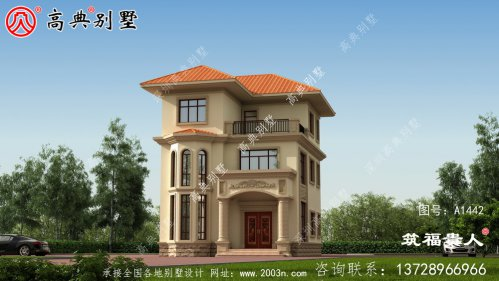 三层小别墅外观设计图,大气好看