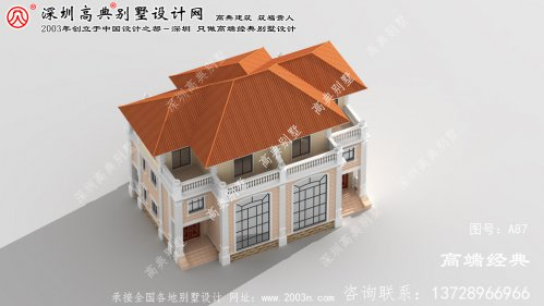 玄武区引人羡慕的新农村双拼别墅设计图