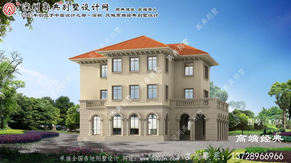翔安区三层乡村别墅设计图