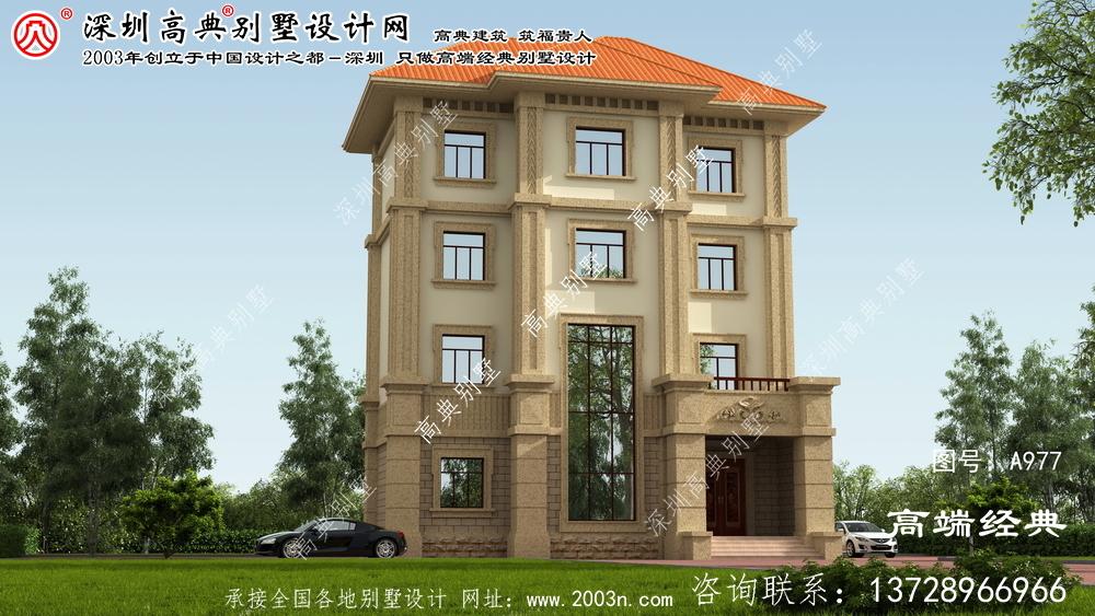 蕉城区四层独栋别墅效果图
