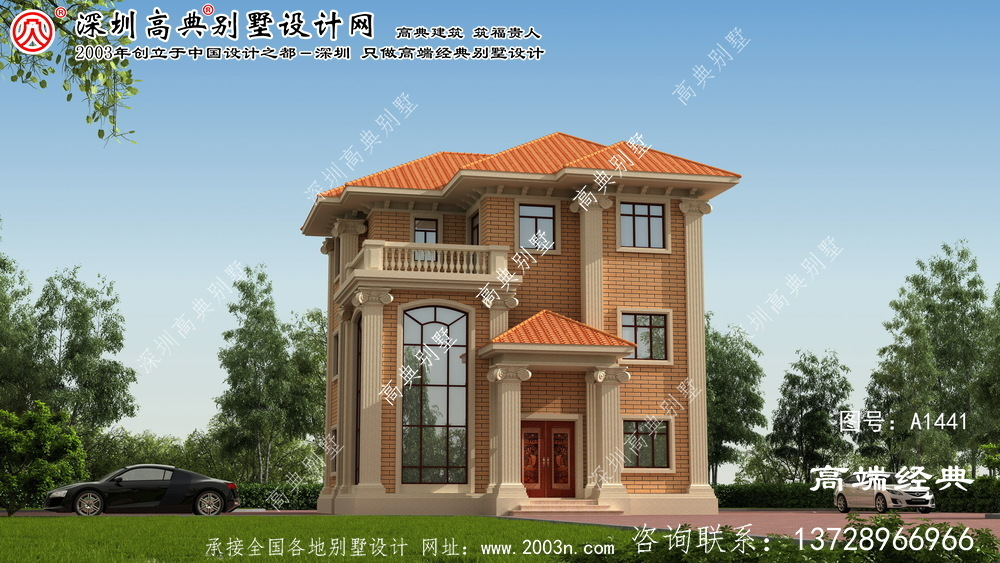 霸州市农村三层房屋设计图