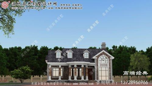 兴和县美式别墅外观效果图