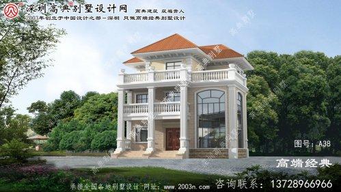 龙港区欧式别墅设计图纸及效果图大全