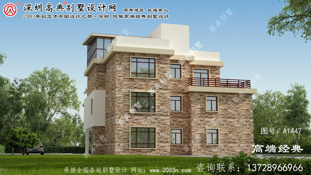 惠来县三层别墅设计图纸及效果图大全