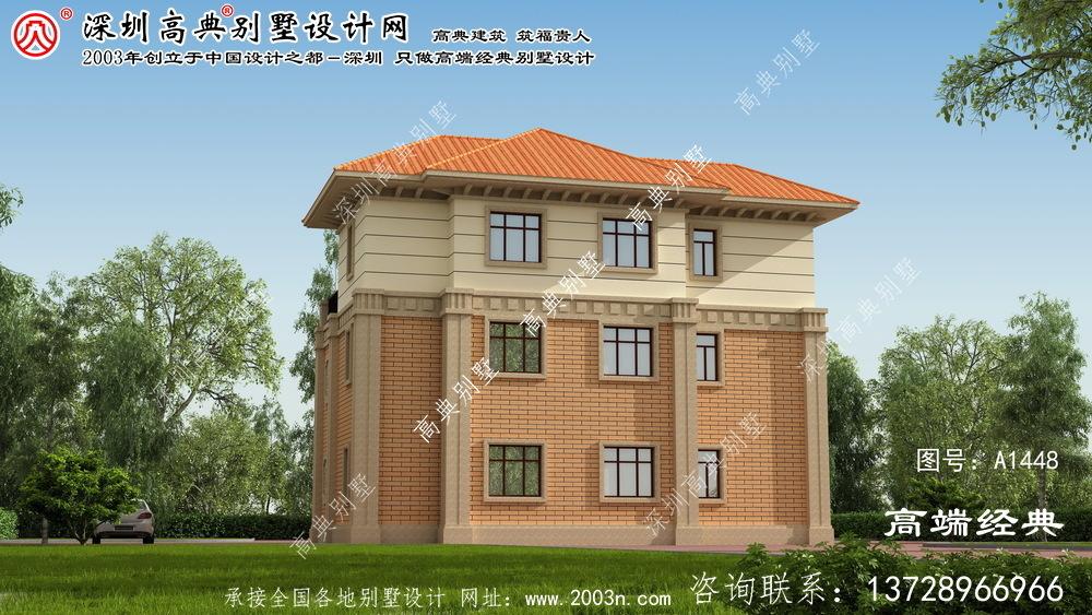 云浮市别墅三层设计图