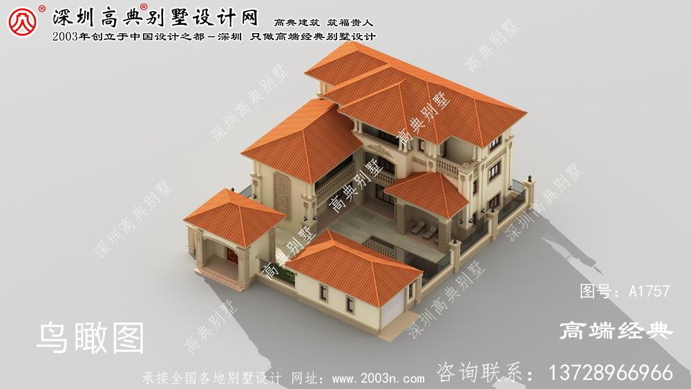 来宾市两层庭院别墅设计图