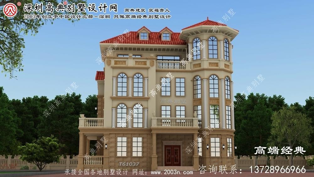 中江县三层别墅设计图