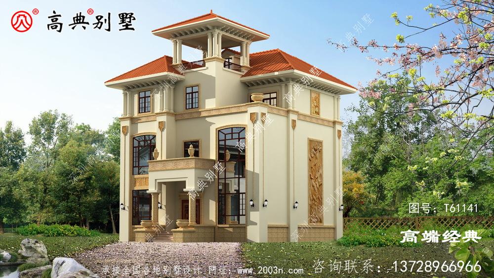 美姑县高级别墅设计效果图