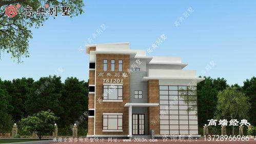越西县三层别墅设计效果图