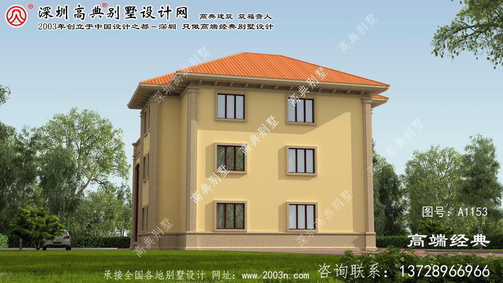 临桂县三层别墅自建风格,简约欧式。