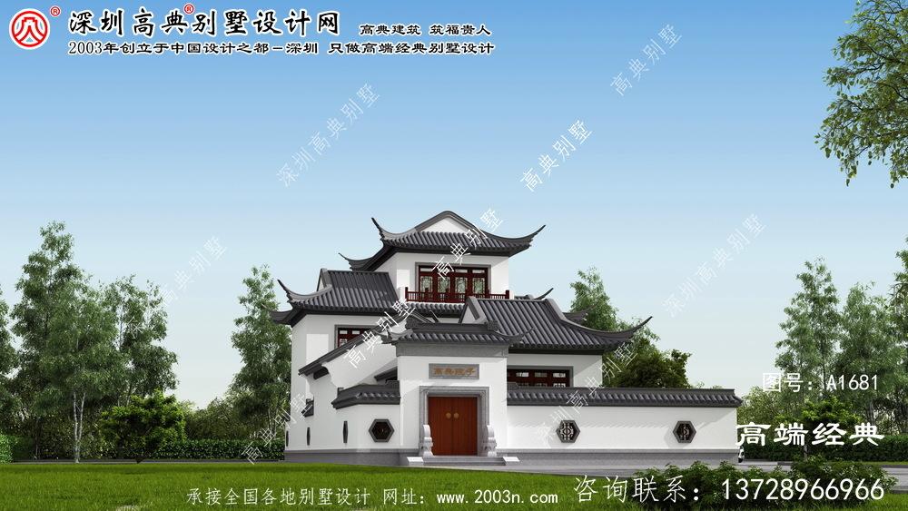 蒸湘区简约大方的苏式庭院别墅。
