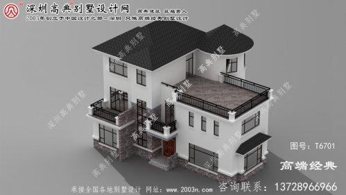 张家口市现代三层别墅,主打舒适实用的简约时