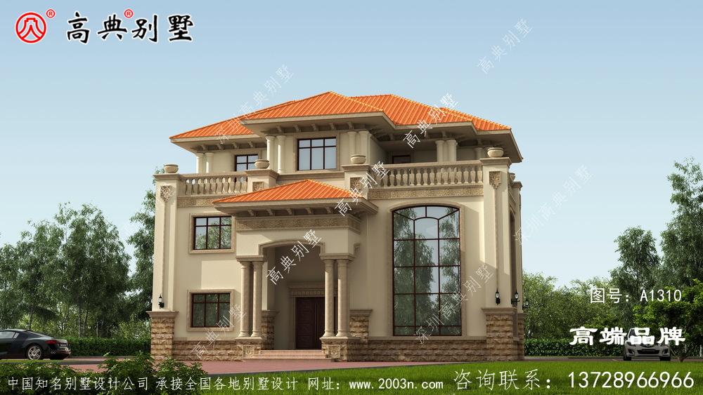别墅外形设计图简单的欧式风格美好的生活向往