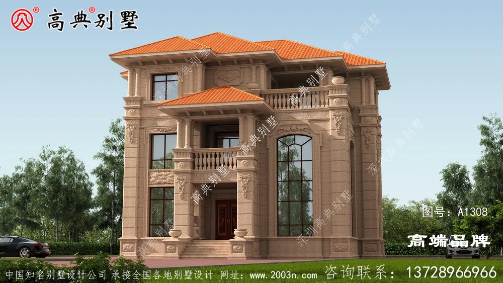 高档别墅设计图纸暖色搭配温馨视觉效果好