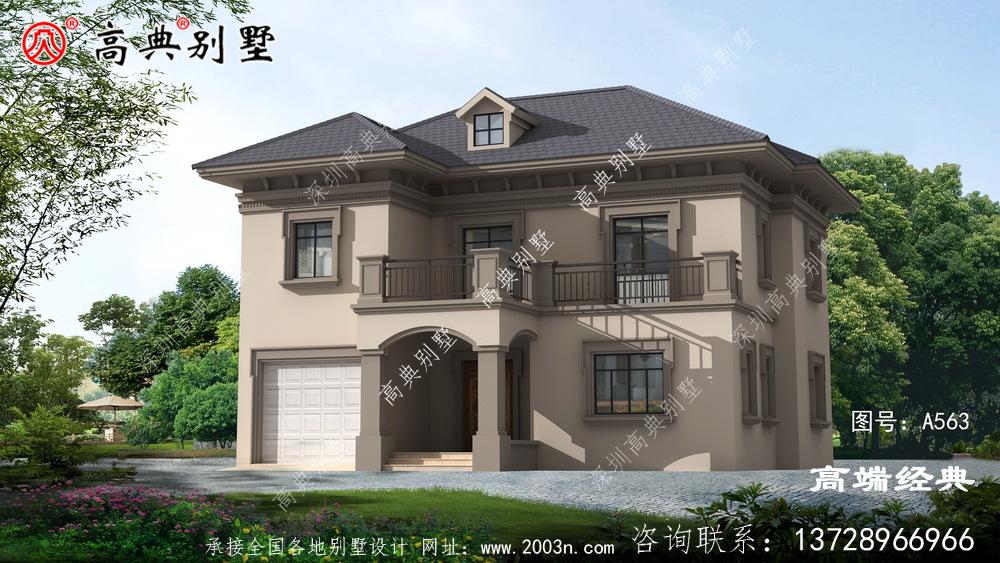 醴陵市二层别墅设计图千万不能错过,简单又大气