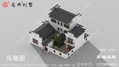 农村三层房设计图整体素雅实用又经济