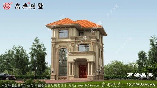 农村楼房设计图三层造型漂亮精致