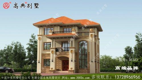 农村三层房的设计图各具特色的经典别墅