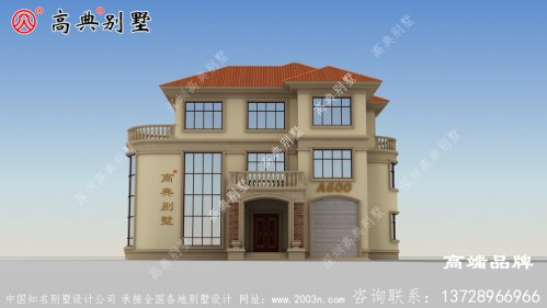 农村房子三层设计图内阳台,储物间,功能齐全