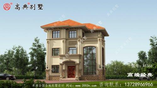 辛集市占地108.3平方米的三层独栋别墅设计图
