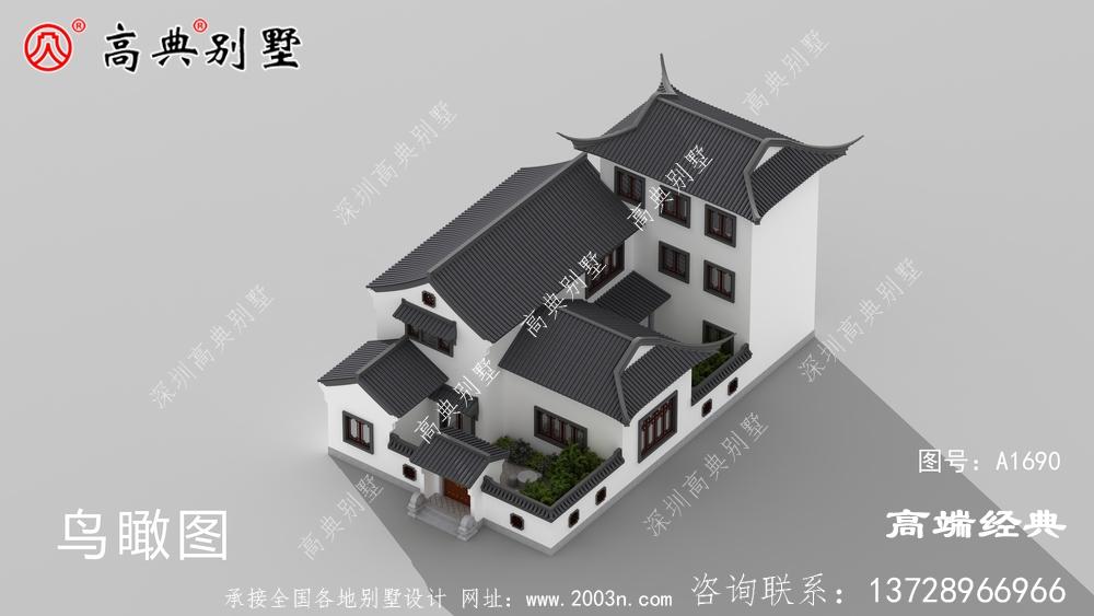 余姚市三层精致中式坡屋顶住宅方案,气质十足