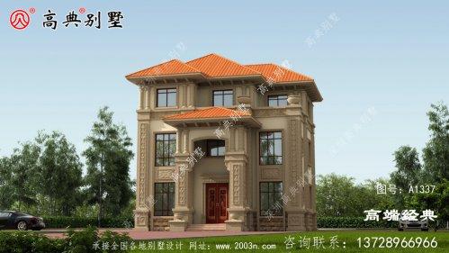 欧式别墅效果图,满满的豪宅感。