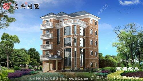 新郑市五层别墅设计图纸外观 采