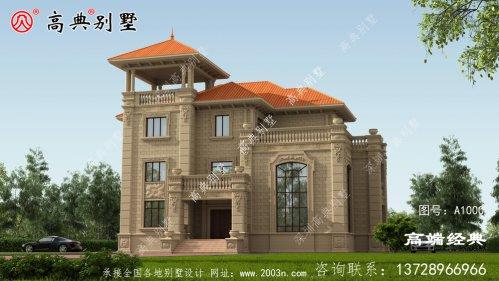 这样的别墅在村里一定会成建房标杆的