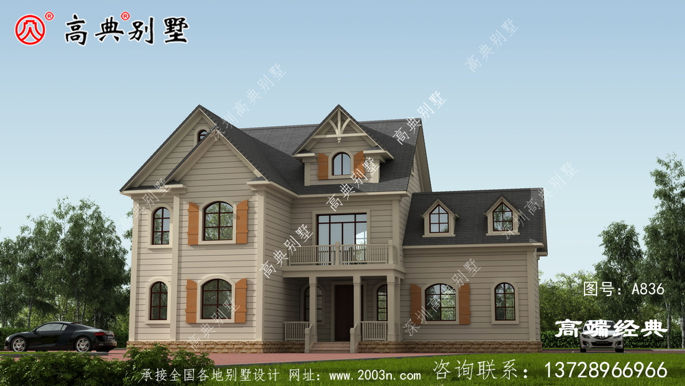 单色设计使别墅更有气质之感