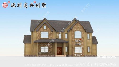 2020最火的二层农村别墅户型设计
