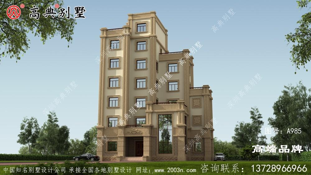 西式高层别墅,层次分明,有质感