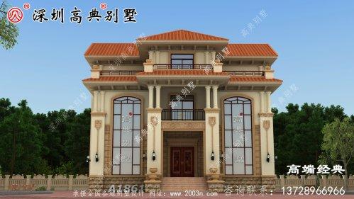 三层欧式别墅自建房,靓丽的外观