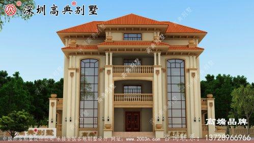 四层别墅设计图,在老家建一栋,亲戚朋友都羡慕