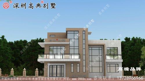农村三层别墅设计图,外观漂亮,布局设计好,
