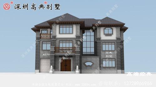 农村简单大气三层楼房图片,设计师最新设计,