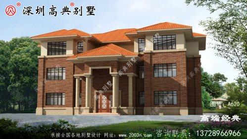 占地面积407平方米的三层住宅设计图,是农村自
