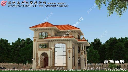三层农村自建房全套设计图,漂亮采光,休闲舒