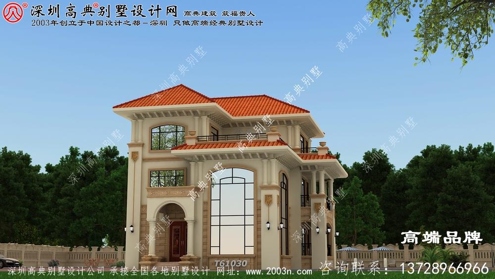 三层农村自建房全套设计图,漂亮采光,休闲舒适