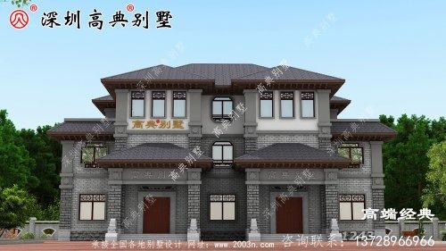 简单大气的三层别墅的设计图,看完了也想回家