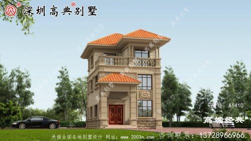 2021新款农村三层别墅设计图,简单实用