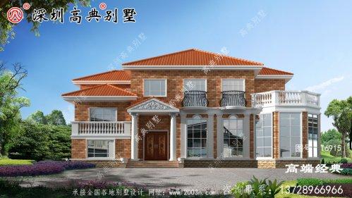美丽的农村自建二层普通房屋,宽敞明亮,足够