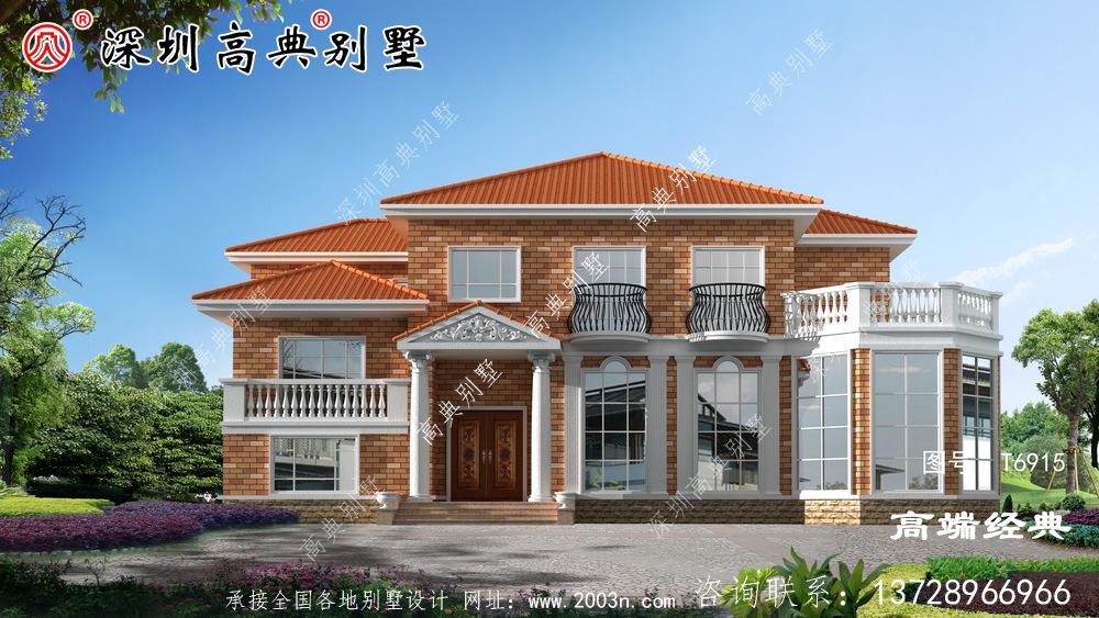 美丽的农村自建二层普通房屋,宽敞明亮,足够居住不会显得空旷。