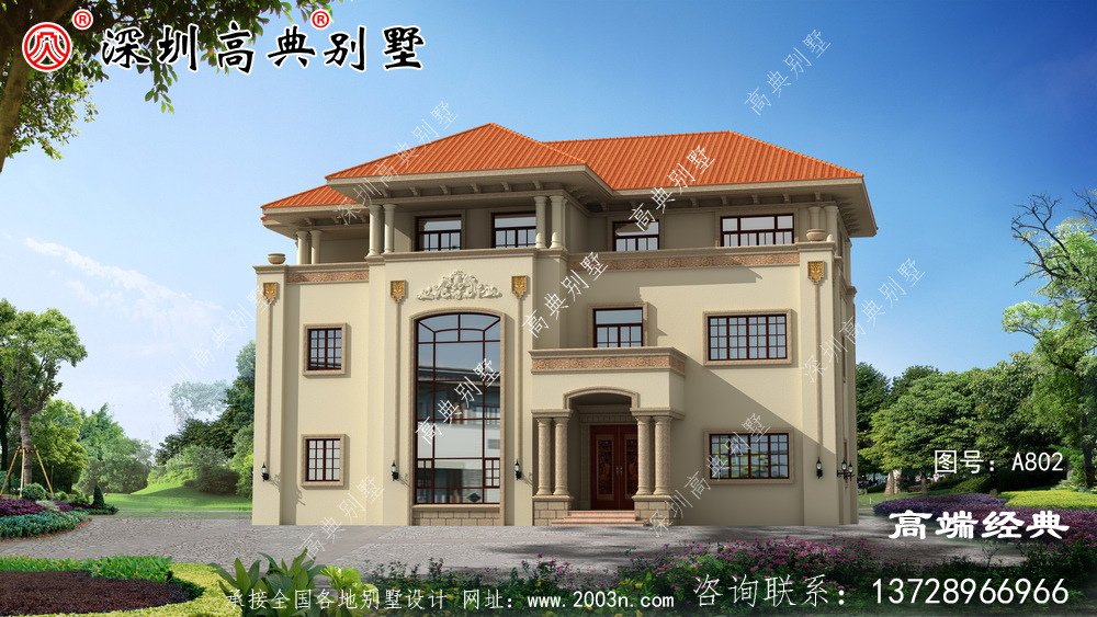 三层别墅住宅农村,外观和户型上完美搭配,真的还不错