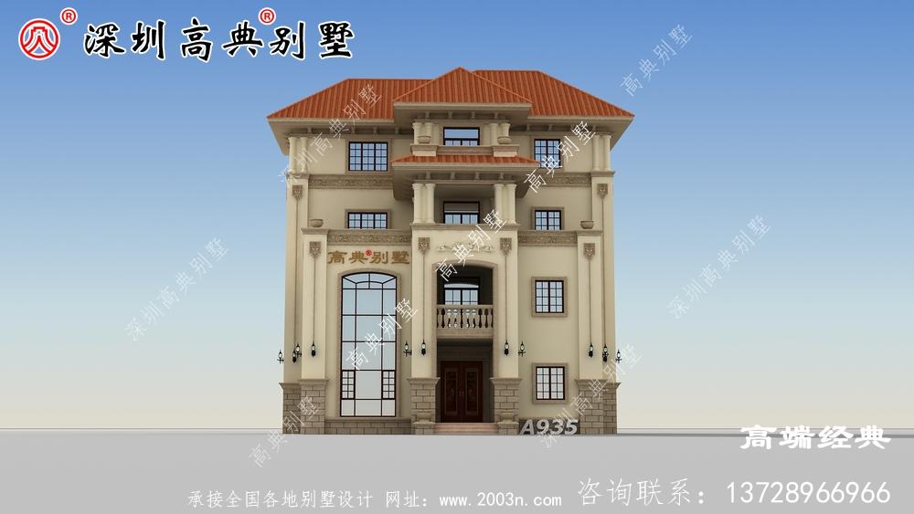 农村三层半楼房设计图,比在城里买一套划算多了