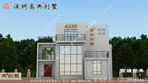 乡村三层带阳台外观图,时尚大气,我都想建。