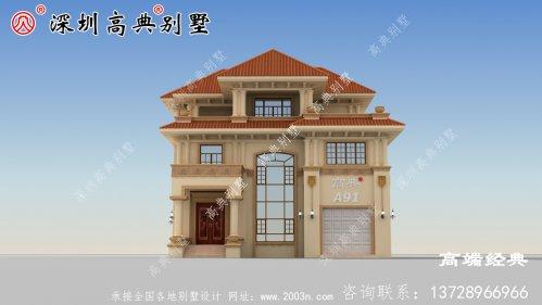 如今农村建的别墅那是各式各样的风格和户型,