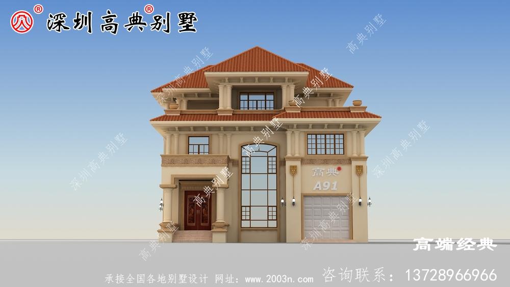 如今农村建的别墅那是各式各样的风格和户型,美极了