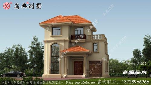 三层欧式别墅带落地窗,小编有地一定建一栋