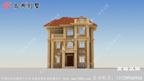 这座简欧别墅 在农村家家户户都能建的起