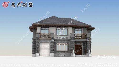 该别墅占地面积218平方米 ,户型方正